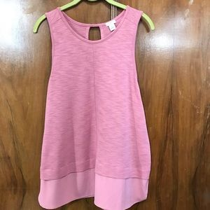 J. Crew Factory layered look tank w/sheer bottom L